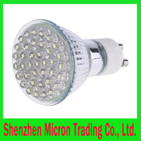 GU10 38 LED Light Bulb Energy Saving Lamp 1.5W Whte/Warm White 6pcs/lot Free Shipping Wholesale
