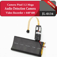 NEW!Great 640x480 Audio Detection Camera 2800MA big battery 2800mAh Video Recorder,Free Shipping,JL-0134.