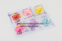 Free shipping 6pairs/lot Wholesale/Retail Cute hello kitty hair bands Classical kid hair accessories Lovely kitty hair ties girl