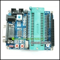 Free shipping,51 SCM minimum system board / development board / learning board ( serial download ) Support AVR microcontroller