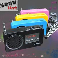 Free Shipping Insert card speaker mini speaker portable small audio mp3 mobile phone music player radio