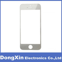50PCS X Electroplating Silver Front Outer Touch Screen Glass Lens Replacement for iPhone 5