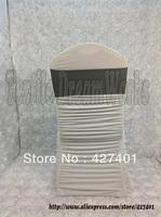 Hot Sale Dark silver Spandex Bands / Lycra Band / Expand Bands /spandex chair sash/Chair cover sash  For Wedding & Banquet