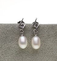 3 color Natural Pearl Earrings Stud Earrings Wedding Bridal Earrings Fresh Water Fashion Jewelry for Charm Women