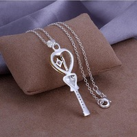 P310 Wholesale 925 silver pendant necklace fashion jewelry Necklace 925  necklace 925 sterling silver charm necklace