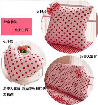 Queen princess rustic 100% cotton pillow heart pillow large bedding small accessories pillow