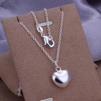 P301 Wholesale 925 silver pendant necklace fashion jewelry Necklace 925 heart necklace 925 sterling silver charm necklace