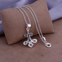 P308 Wholesale 925 silver pendant necklace fashion jewelry Necklace 925  necklace 925 sterling silver charm necklace