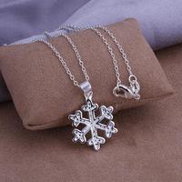 P303 Wholesale 925 silver pendant necklace fashion jewelry Necklace 925 flower necklace 925 sterling silver charm necklace
