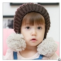 Child 2013 21-year-old thermal protector ear cap baby knitted hat cap child ear protector