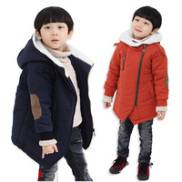 Children's clothing male child autumn and winter cotton-padded 2013 plus velvet oblique zipper wadded jacket cotton-padded