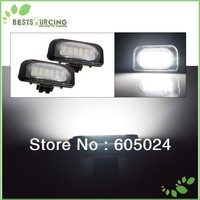free shipping 5pairs 18 SMD 5050 Waterproof led car light  Led License plate lamp for Mercedes Benz W203 4D Sedan