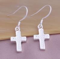 China wholesale earring cross piercing cross earrings crystal YAE100