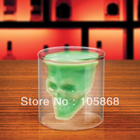 Hot sale! Clear Skull Head Vodka Shot Glass Drinking Ware Crystal Cup Barware 2.5 Ounces IA360