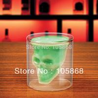Hot sale! Clear Skull Head Vodka Shot Glass Drinking Ware Crystal Cup Barware 2.5 Ounces IA360