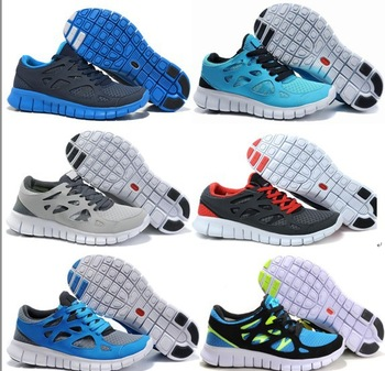 Free Shipping Men's Free Run 2 Running Shoes Brand Lightweight Breathable Free Run men's Barefoot Sports Shoes Size 39-45