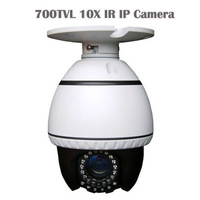 3.5 Inch Pan Tilt Mini High Speed Dome PTZ Camera 700TVL IR IP Camera 10X ZOOM