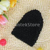 Free Shipping Versatile Crochet Beanie Hat Cap for Baby Infant Girl - Black