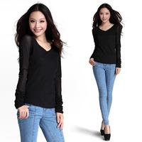 V's drilling long sleeved blouse 9901