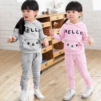 Small 2013 child autumn bear style sports set male female child set