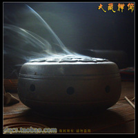 Buddhism supplies purple ceramic lotus santenic plate incense stove box buddha with