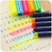 Free shipment Korea stationery neon pen solid jelly pen coarse doodle oil marker