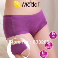 DD&SS Women's Solid Color Modal Fiber Underwear Elegant Panties High Quality Seamless Briefs Women 3WN132 Free Shipping