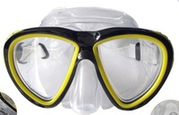 Silicone Toughened glasses Diving mask M2528 shield Swimming gogglesDiving equipment Plastic box  packaging