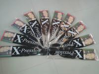 Free shipping braiding hair synthetic hair weave x-pression ultra braid 1# 5pcs wholesales