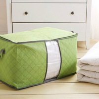 Multi-colored bamboo charcoal quilt clothing storage bag sorting bags storage bags non-woven storage box