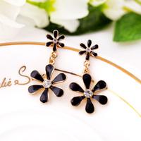 Min.order is $10 (mix order) Fashion Korea charming beautiful flower earrings jewelry wholesale free shipping