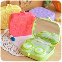 Free shipment Hearts . candy color contact lenses box lens mate box lenses companion box