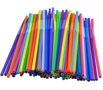 Multicolour 100 art straw milk tea straw drink straw milk straw oslash . 6 260mm 5-color