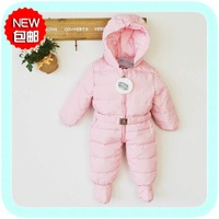 Baby down coat winter romper jumpsuit baby clothing down coat