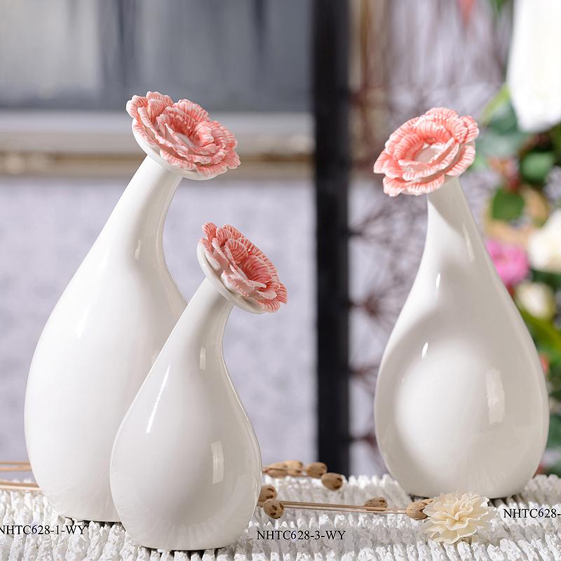 Ceramic flower decoration modern brief vase fashion home accessories(China (Mainland))