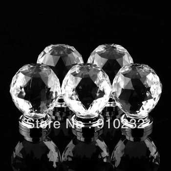 New Clear Transparent Crystal Ball Handle Furniture Door Acrylic Handle