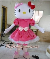 Miss Hello Kitty Mascot Costume Adult Size Fancy Dress Party Outfit Free Shipping