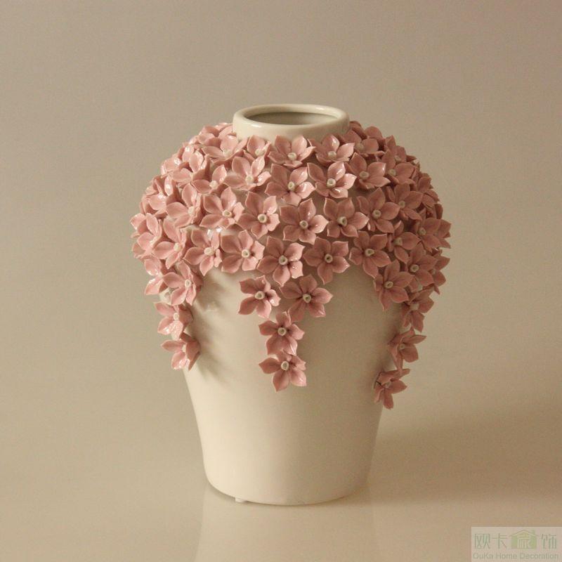 vase modern brief fashion home decoration accessories handmade flower