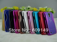 100pcs/lot Free shipping 10colours High quality Small pretty waist Metal back case for samsung galaxy s4 MINI i9190