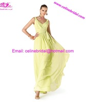 Fashion V-neck Chiffon New Arrival  2013  Hot Sale Ribbon  Prom /Evening/Party /Dresses