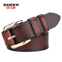 Genuine leather belt women's strap Women genuine leather fashionable casual belt free shipping