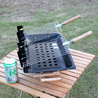 Free Shipping Portable Adjustable Stove outdoor camping BBQ grill stove