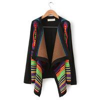 Ruslana korshunova geometry abstract pattern irregular cardigan sweater cape  tribal cardigan