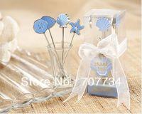 Ocean series fruit fork for wedding decoration;