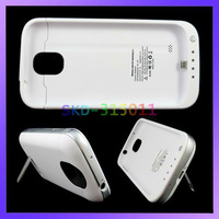 Stylish Ultra Thin 4200mAh Outer Jacket Battery External Charger Case For Samsung S4 i9500 With Stand