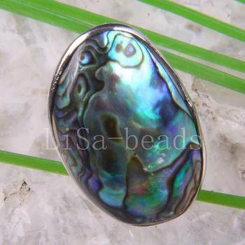 1Pcs Fashion Jewelry Zealand Abalone Shell Ring Adjustable Z102