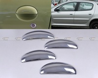 Free shipping & Tracking # New Chrome Door Handle Cover Trim foPeugeot 206 206cc - CA00525