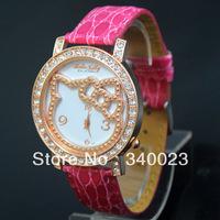 Hot! 10pcs New Red Hello Kitty Crystal Stone Quartz Girls Ladies Wrist Watch, K23-RD