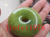 Natural jade okrs big green button pendant necklace lanyard knopper pieces