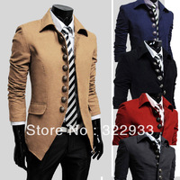 spring autumn /2013 / fashion/men's clothing/8 button decoration /Leisure coat/jacket / winter / Gift/ Handsome men Coat 5 Color